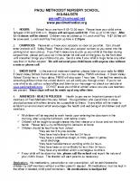 General Policies and Procedures