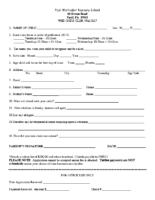 Wee Ones Club Registration Form